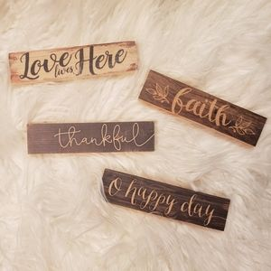 Wood Stick Plaque Bundle
